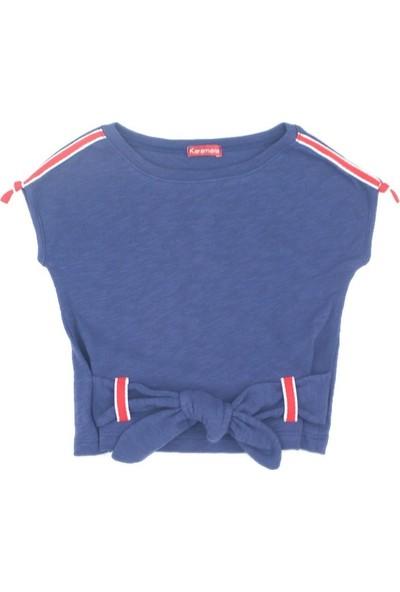 Karamela Kız Çocuk Kemerli T-Shirt