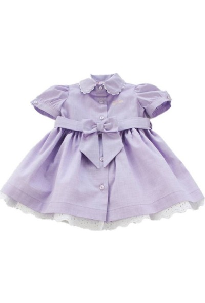 O Piti Piti Kız Bebek Lila Elbise