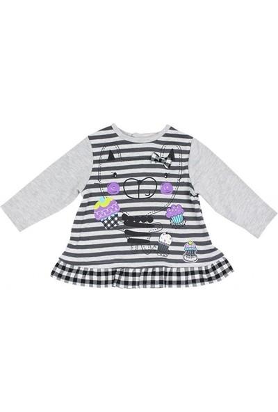 Tuc Tuc Kız Çocuk Kedi Baskılı Sweatshirt Paris Oh La La