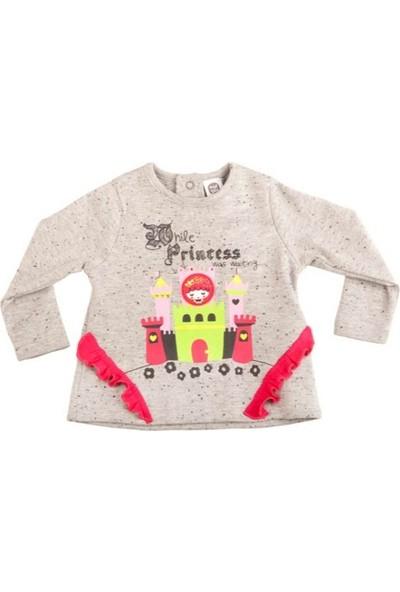 Tuc Tuc Kız Çocuk Şatolu Uzun Kollu T-Shirt Kingdom