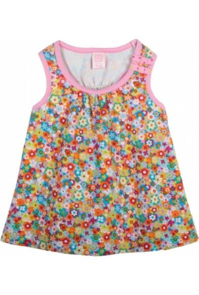 Tuc Tuc Kız Çocuk Çiçekli Kolsuz Havlu Elbise Mon Jardin