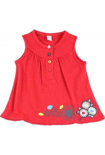 Tuc Tuc Kız Çocuk Eteği Fistolu Çiçek Nakışlı Bluz Monsters