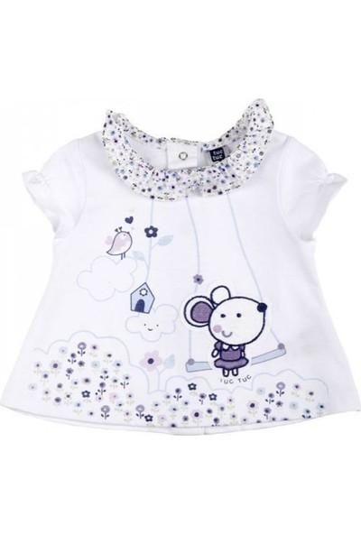 Tuc Tuc Kız Bebek Çiçek Baskılı T-Shirt Bio