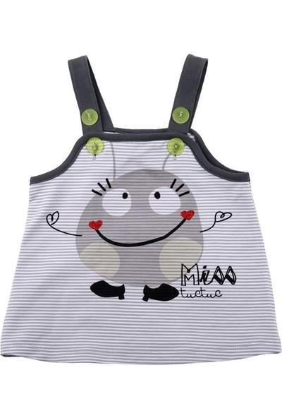 Tuc Tuc Kız Çocuk Gülen Surat Baskılı Elbise Mr&Miss Puppet