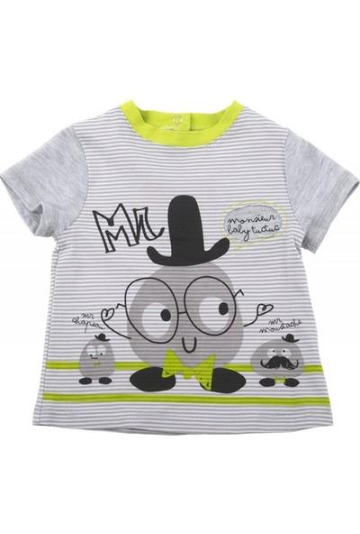 Tuc Tuc Erkek Çocuk Gülen Surat Baskılı T-Shirt Mr&Miss Puppet