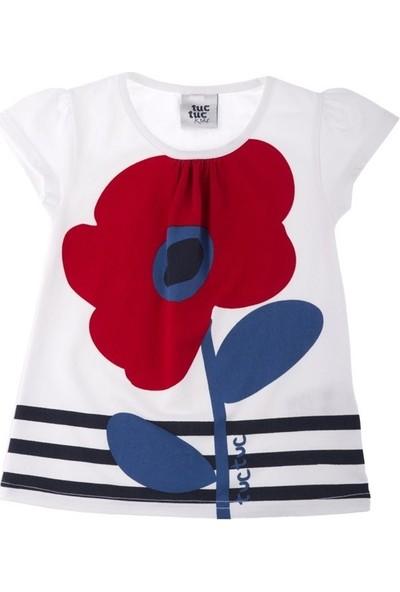 Tuc Tuc Kız Çocuk Çiçek Baskılı T-Shirt Lady Marine
