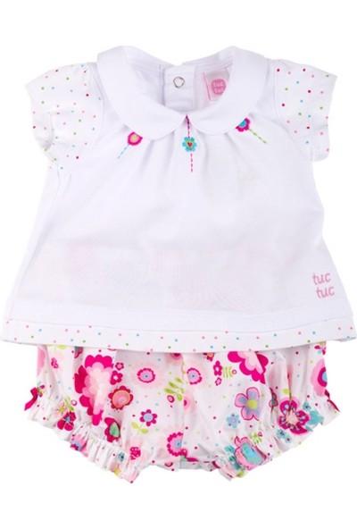 Tuc Tuc Kız Bebek T-Shirt Şort Takım L'Espirit Des Fleurs
