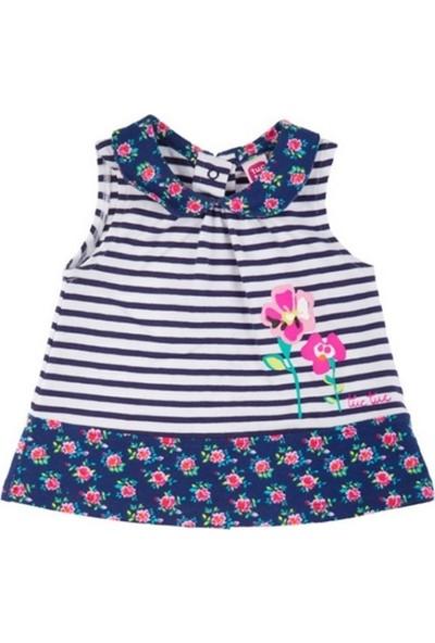Tuc Tuc Kız Çocuk Çizgili Kolsuz Bluz Retro Flowers