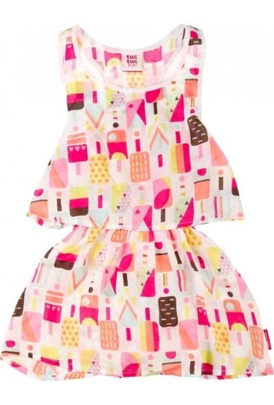 Tuc Tuc Kız Çocuk Elbise Ice Pop