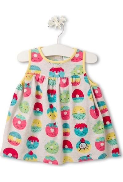 Tuc Tuc Kız Çocuk Donut Baskılı Kolsuz Elbise Yummy