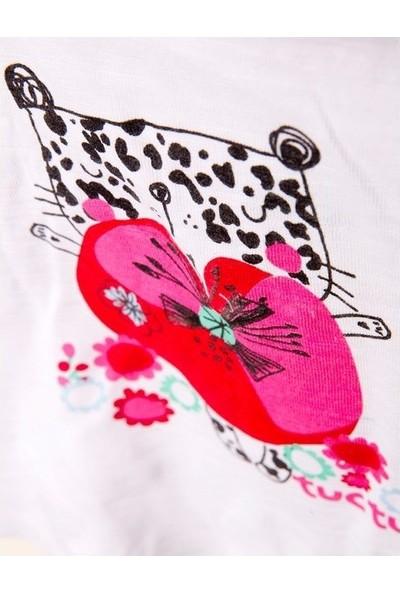 Tuc Tuc Kız Çocuk Kolsuz T-Shirt Leopard Butterfly