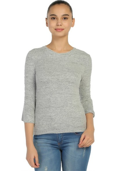 Dükkan Moda Kadın Kolları Volanlı Bluz