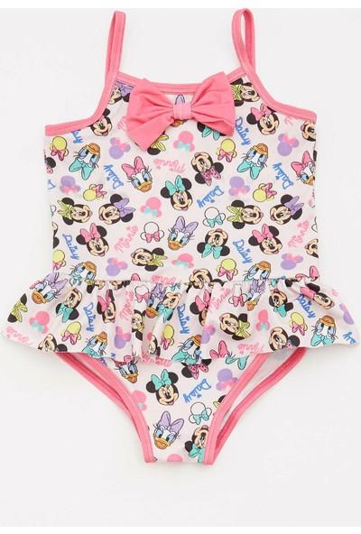 Defacto Kız Bebek Mickey Mouse Lisanslı Mayo