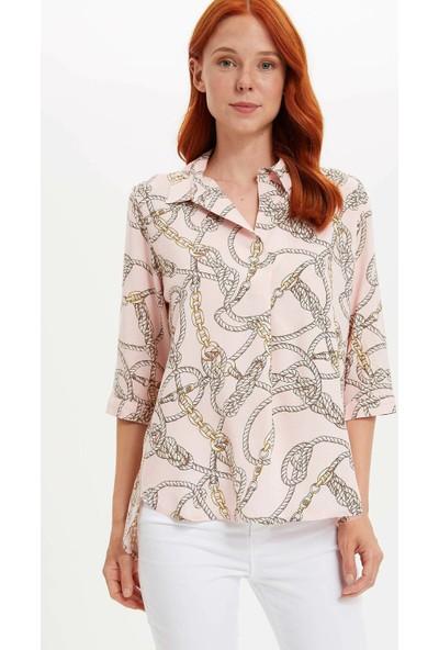 Defacto Kadın Zincir Desenli Bluz