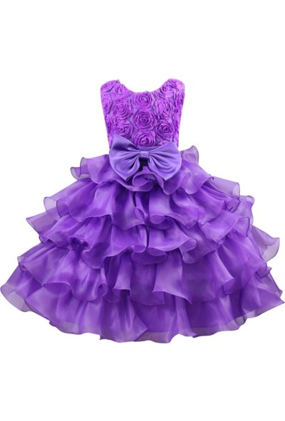 GOB2C Dantel Düğün Resmi Kız Çocuk Elbise