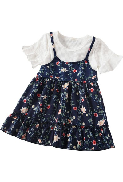 GOB2C Kız Çocuk Kısa Kol Elbise