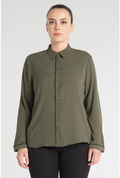 Pera Club 10L9B13225 Kadın Biye Özellikli Gömlek