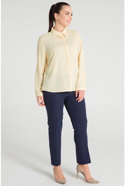 Pera Club 10L9B15216 Kadın Basic Gömlek