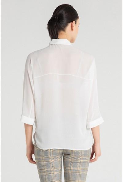 Pera Club 10W9B10219 Kadın Fakir Kol Gömlek