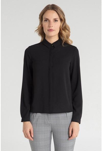 Pera Club 10W9B11172 Kadın Klasik Gömlek