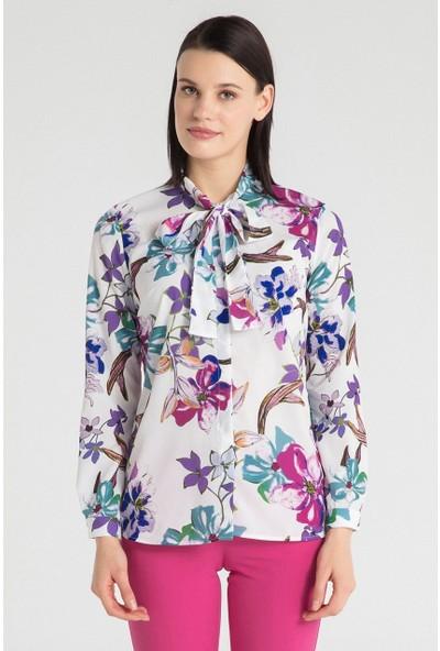 Pera Club 10W9B14234 Kadın Flarlı Gömlek
