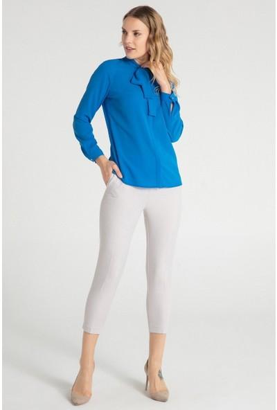 Pera Club 10W9B31206 Kadın Flarlı Gömlek