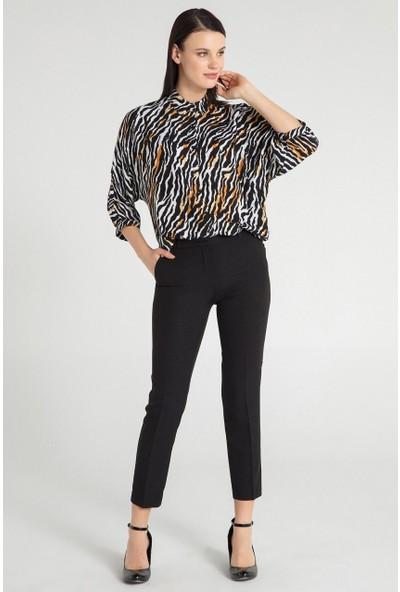 Pera Club 10W9C11228 Kadın Zebra Desen Gömlek