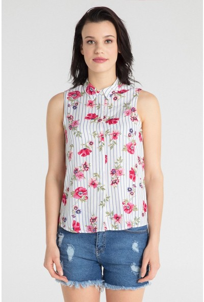 Pera Club 10W9S10245 Kadın Desenli Gömlek