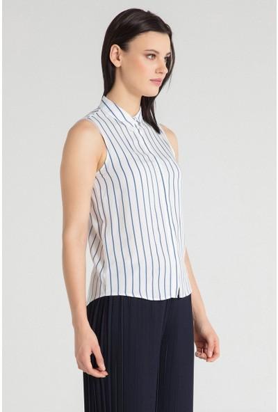 Pera Club 10W9S28209 Kadın Sıfır Kol Gömlek