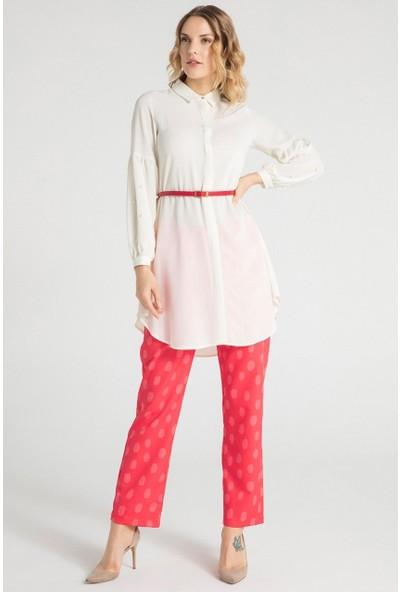 Pera Club 12W9T10217 Kadın Kol İncili Tunik Elbise
