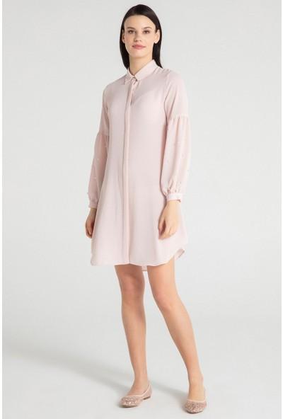 Pera Club 30W9E24217 Kadın Kol İncili Tunik Elbise