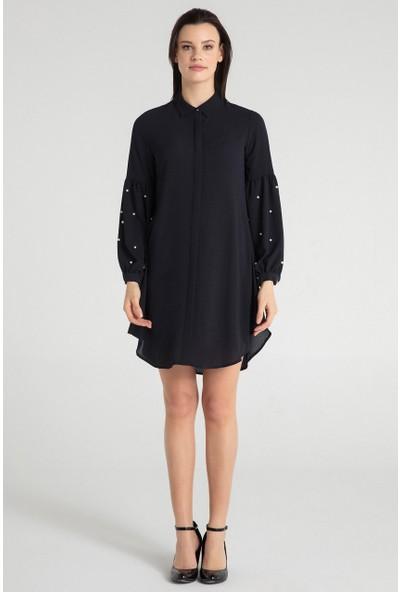 Pera Club 30W9E28217 Kadın Kol İncili Tunik Elbise