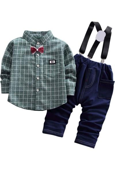 GOB2C Erkek Çocuk Pantolon Gömlek İkili Takım