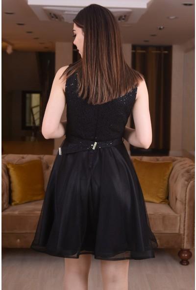 Springstore Pullu Kısa Mezuniyet Elbisesi