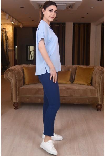 Springstore Cebi Şeritli Likralı Pantolon