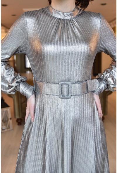 Springstore Karpuz Kol Kemerli Elbise