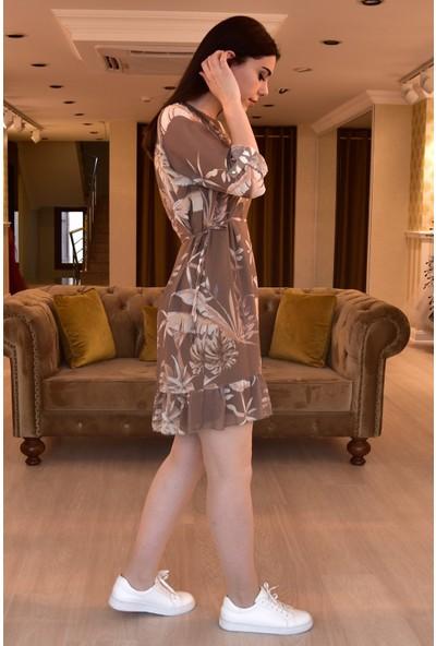 Springstore Şifon Desenli Elbise
