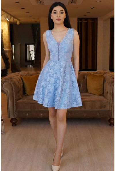 Springstore Güpürlü Kısa Elbise