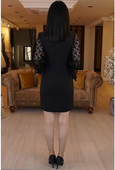 Springstore Kolları Dantelli Elbise