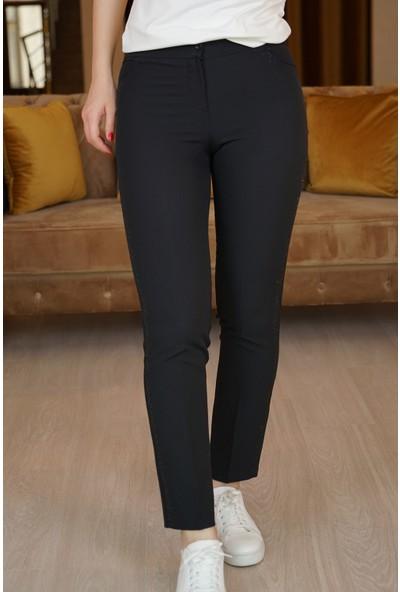 Springstore Kenarları Taş Işlemeli Pantolon