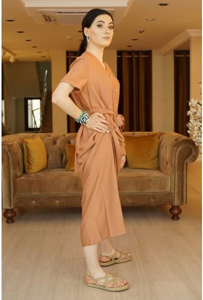 Springstore Önden Düğmeli Elbise