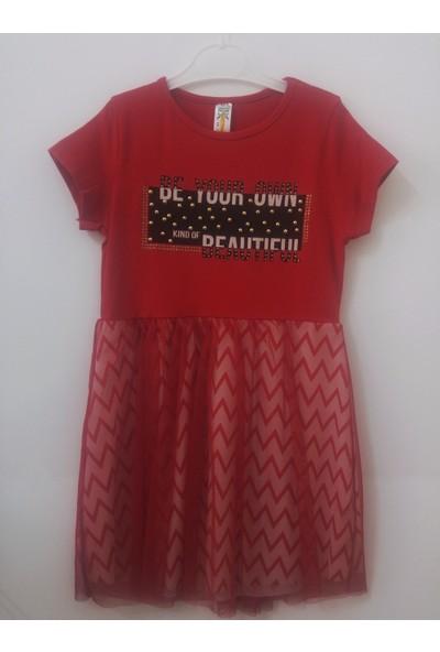 Betü Zigzag Kız Çocuk Şık Çizgili Elbise