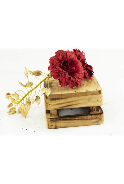 Eva Flore Kırmızı Çiçekli Helen Tacı