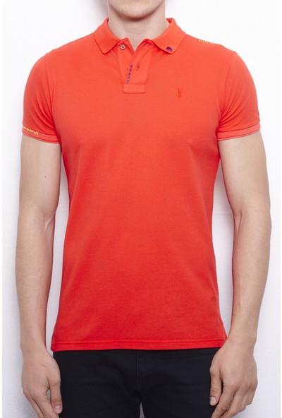 Port Royale Erkek Elişi Nakışlı Polo T-Shirt