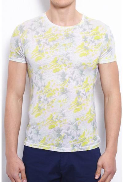 Port Royale Erkek Dijital Baskılı Keten T-Shirt