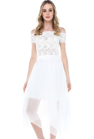 Quincey Tül-Dantel Elbise