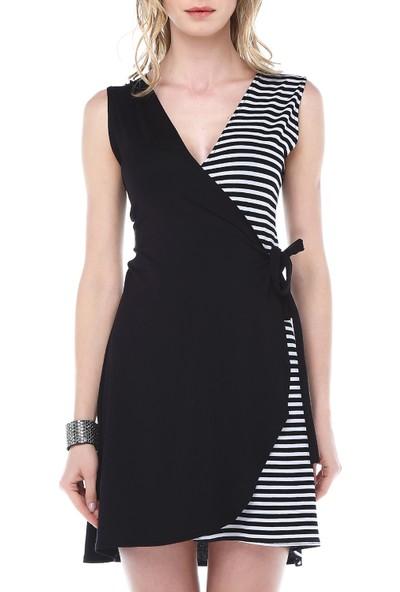Quincey Çizgili Anvelop Elbise