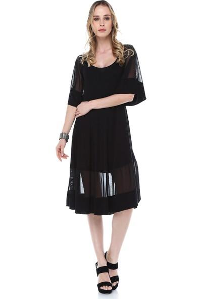 Quincey Tül Detayli Elbise