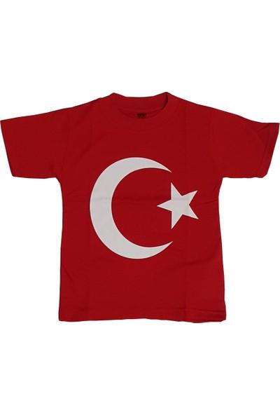 Bbr Kids Ay Yıldızlı Türkiye Bayraklı Kırmızı Tişört