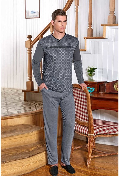 Berrak Uzun Kol Erkek Pijama Takımı Berrak 540 İndigo